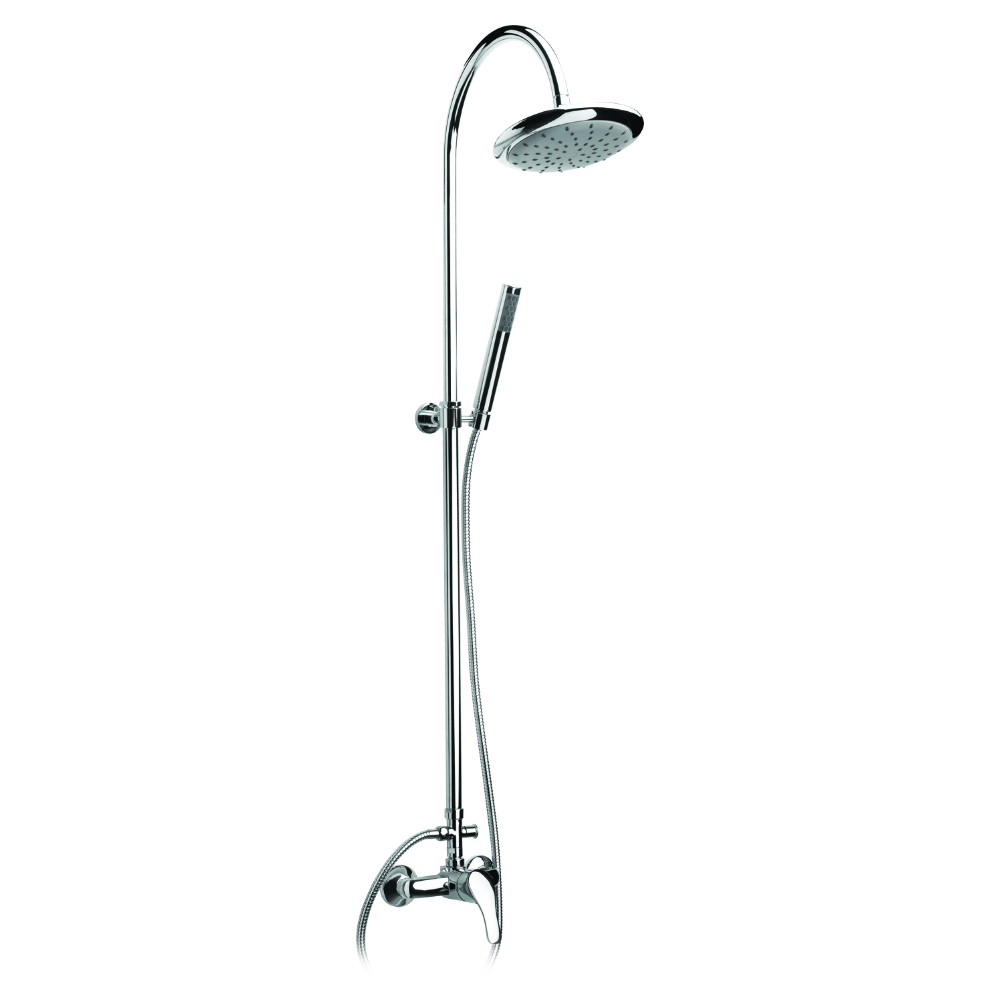 Colonne de douche avec mitigeur et tete de douche