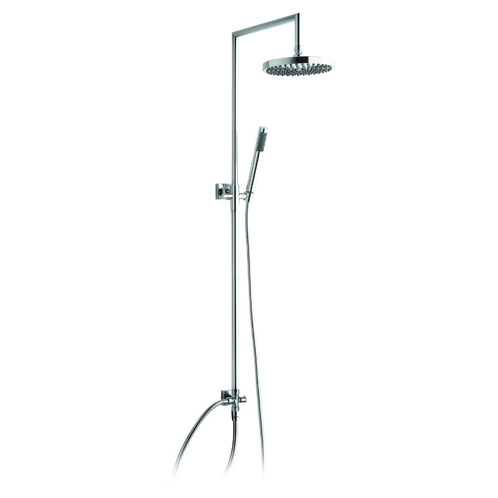Dusch-Säule, orientierbar und teleskopisch, mit Wandhalterung, Überkopfdusche und Dusche