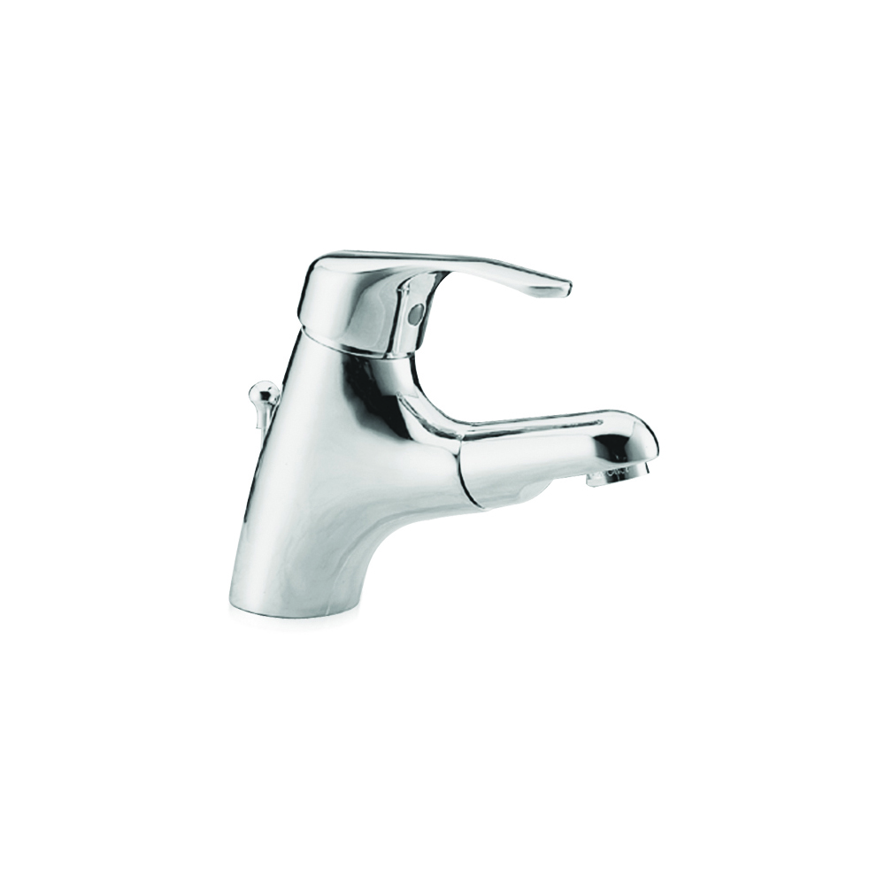 Basin mixer with pull-out spray