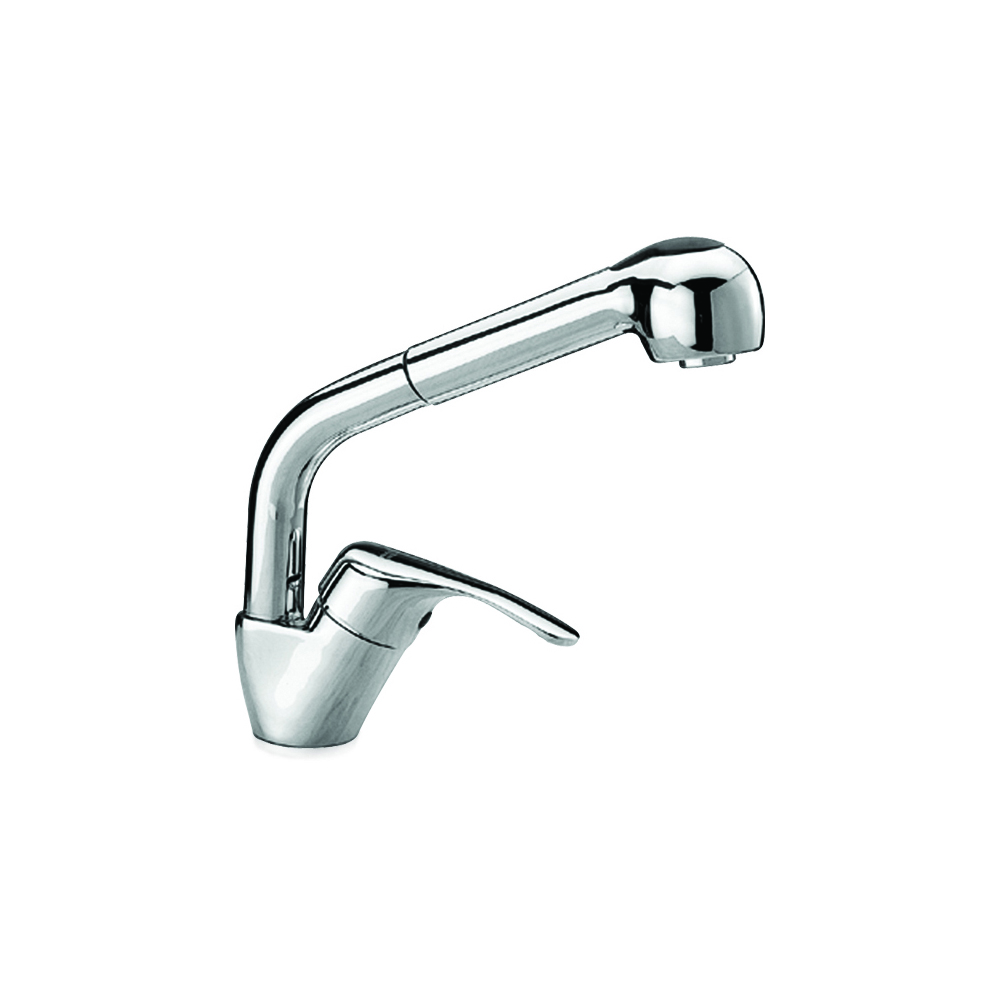 Kitchen sink mixer with pull-out shower