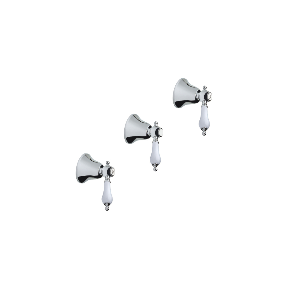 Three hole built-in bath-shower mixer with 2 way diverter