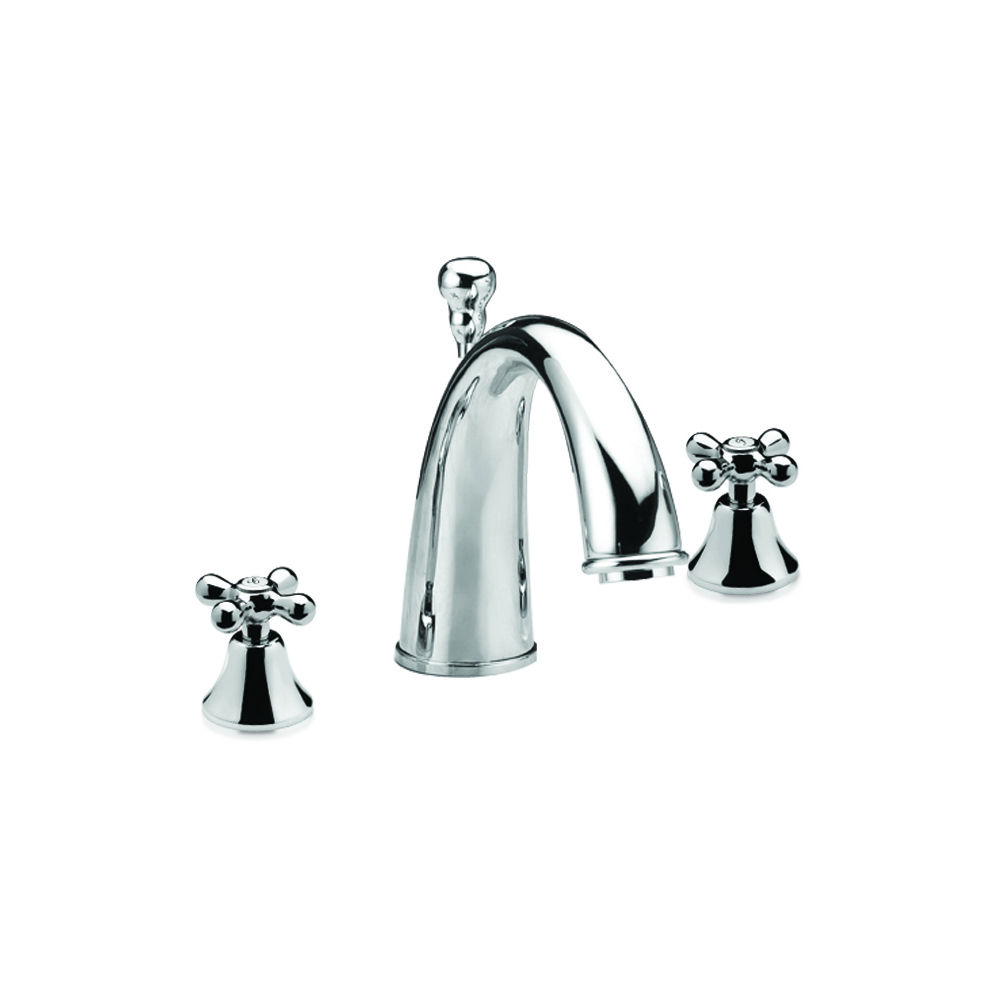 3-hole basin mixer with pop-up waste