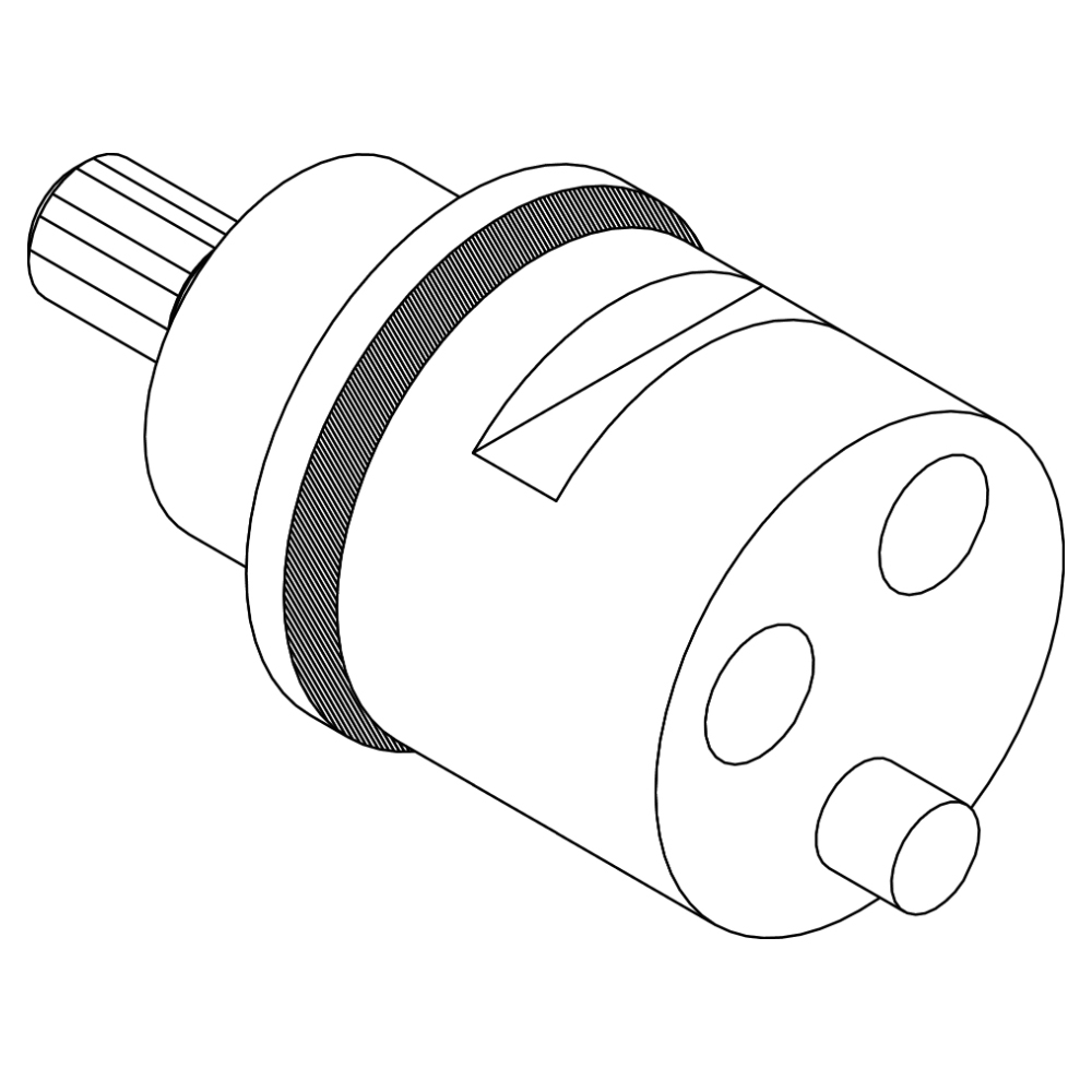 2-way diverter cartridge for thermostatic mixer