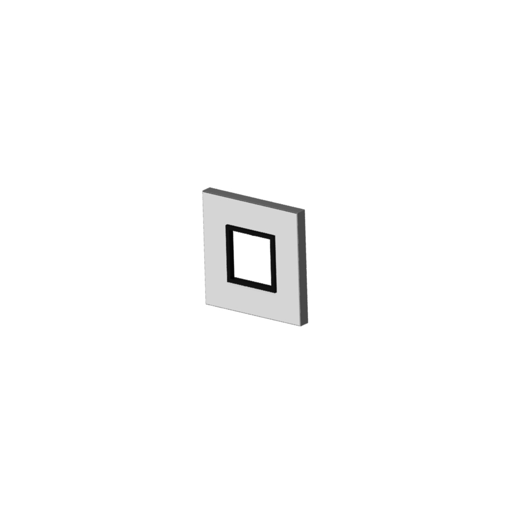 Square shower cover plate