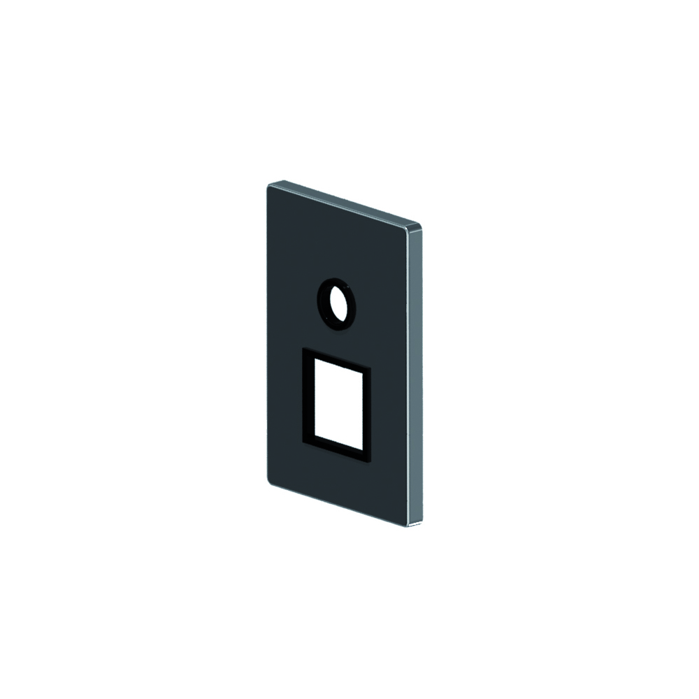 Square shower cover plate with diverter