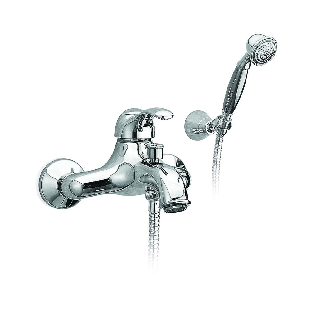 Mitigeur baignoire à levier avec inverseur automatique et kit douche.