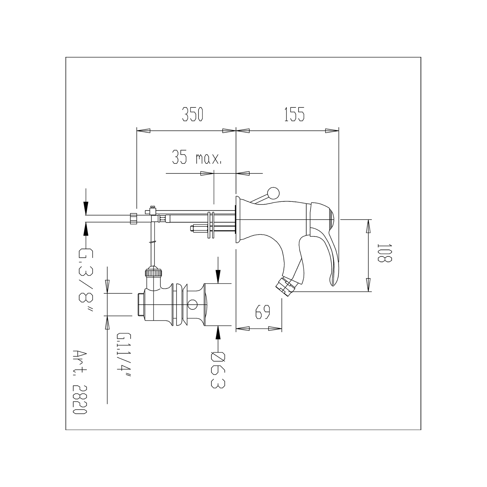 Miscelatore bidet con scarico automatico