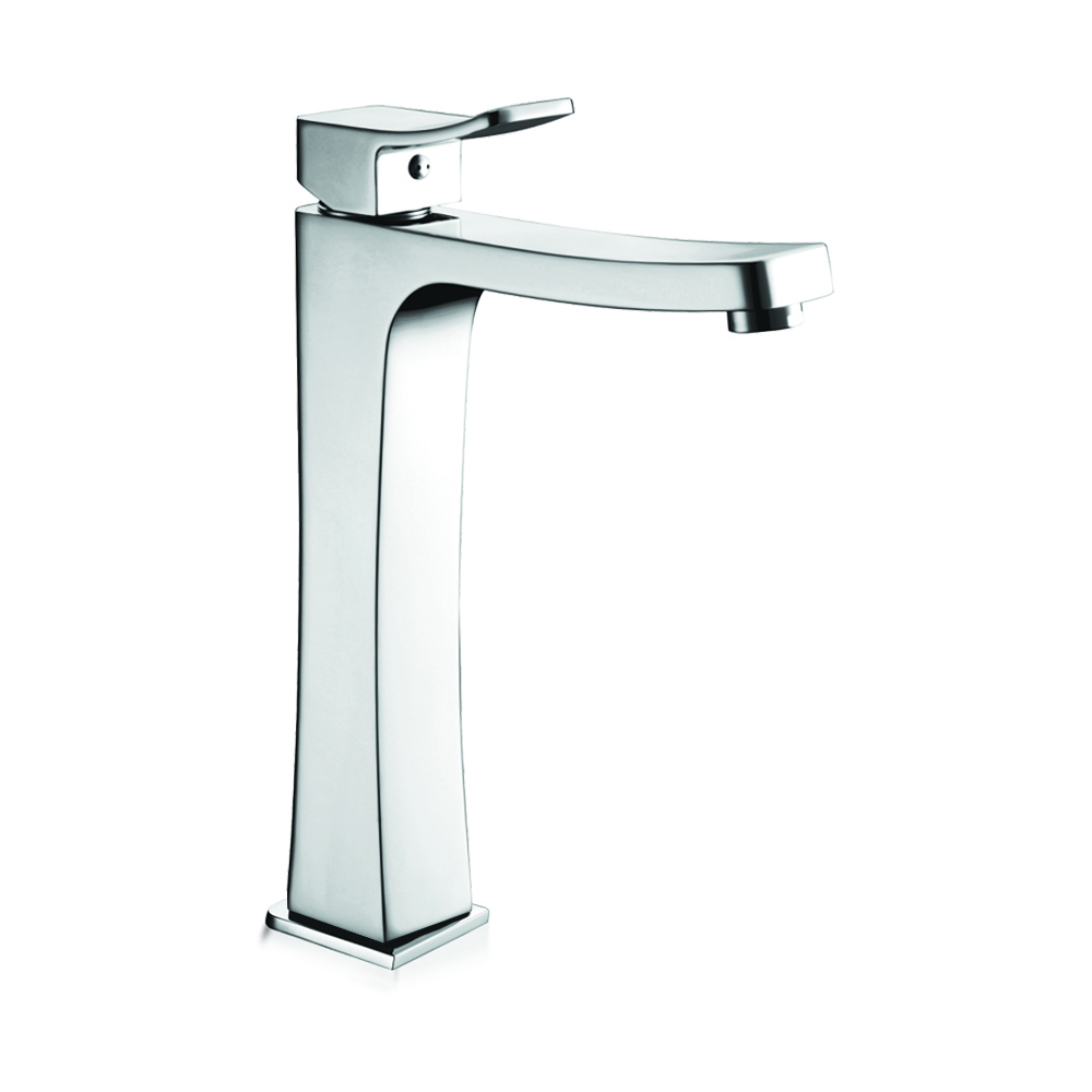 Tall faucet with Click Clack waste
