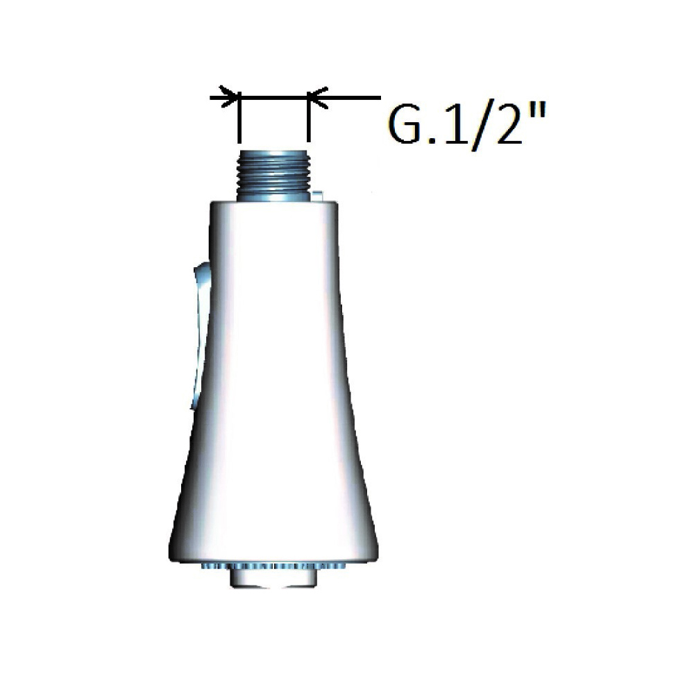 Anti-limestone ABS head shower with water saving button