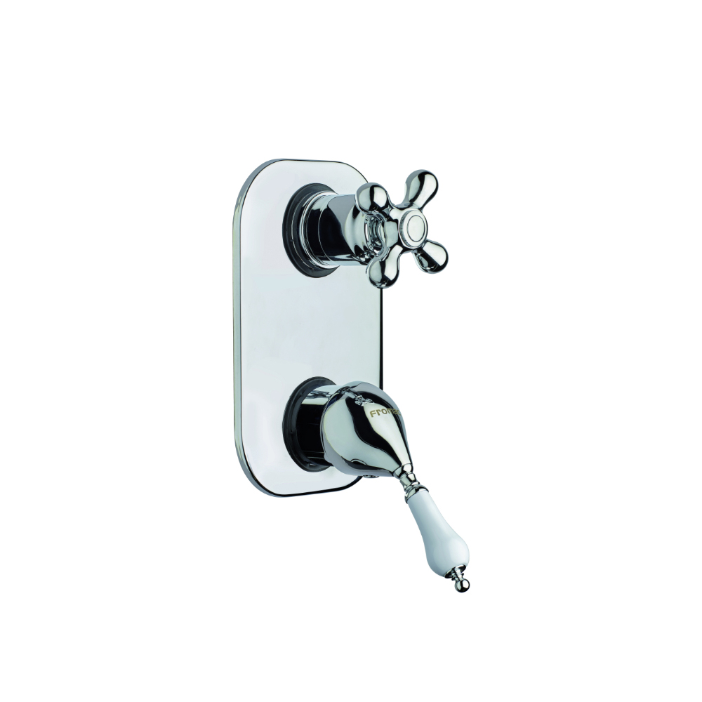 Single lever shower mixer with 3-way diverter