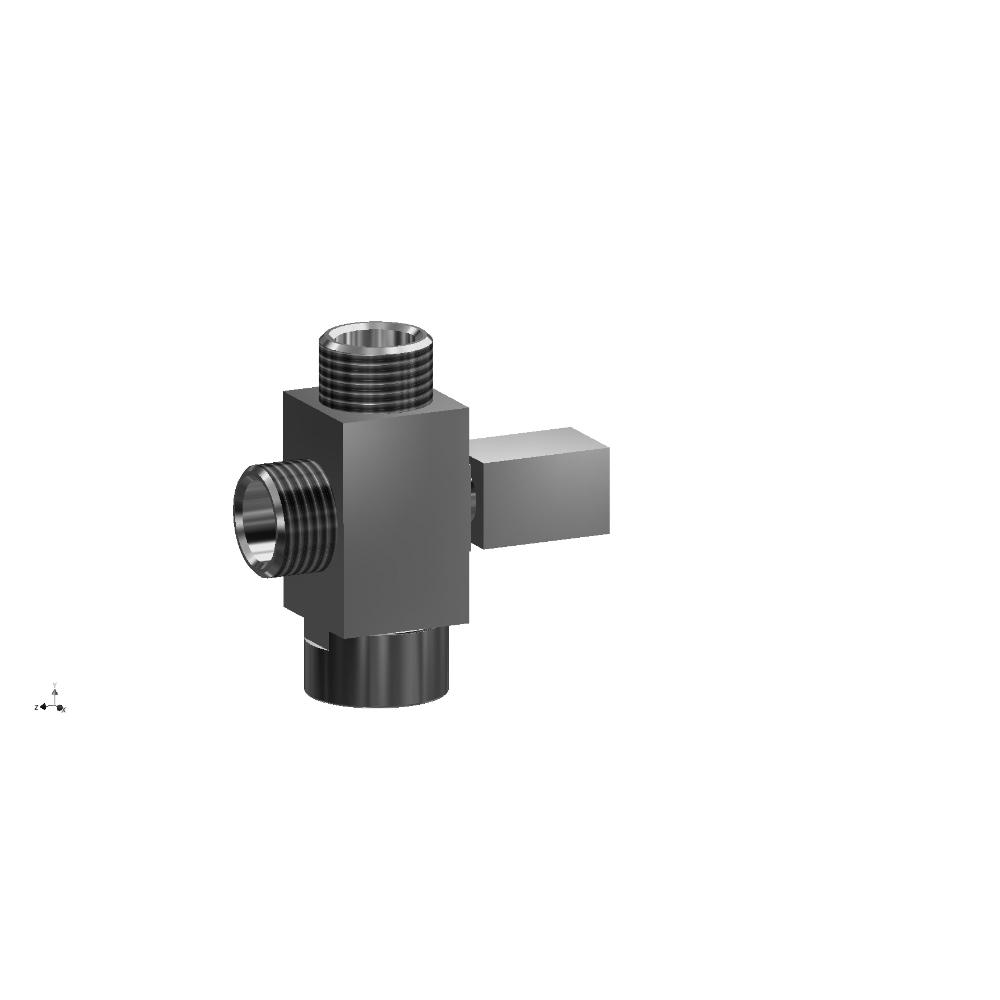 Square shower diverter valve