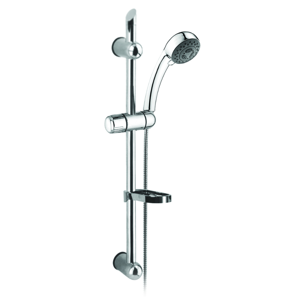 Adjustable shower rail with ABS head shower