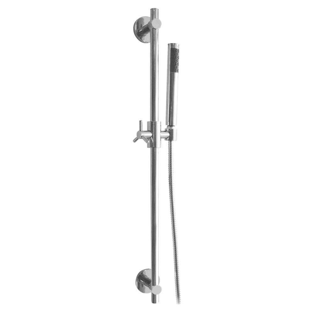Shower rail with head shower