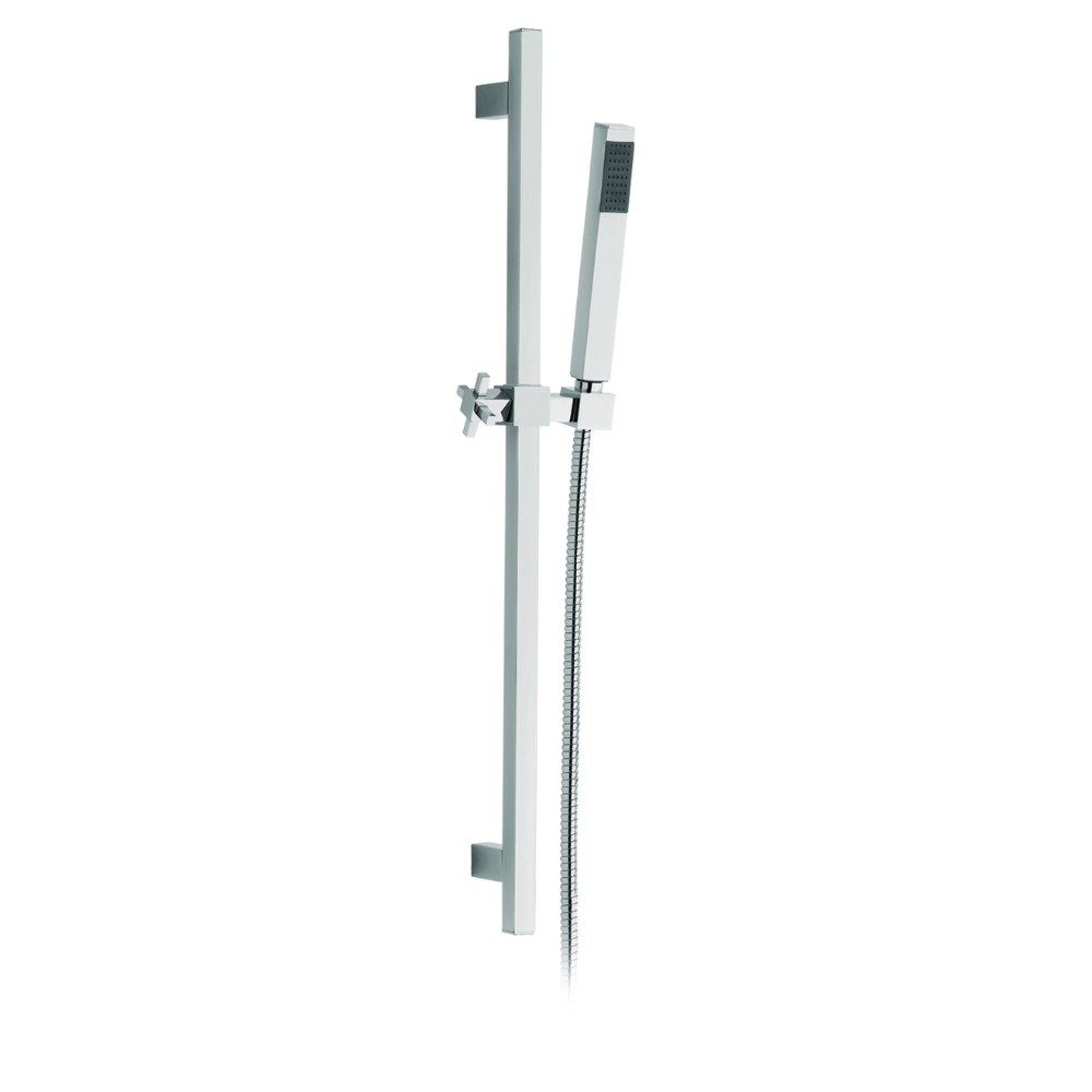 Shower rail with head shower