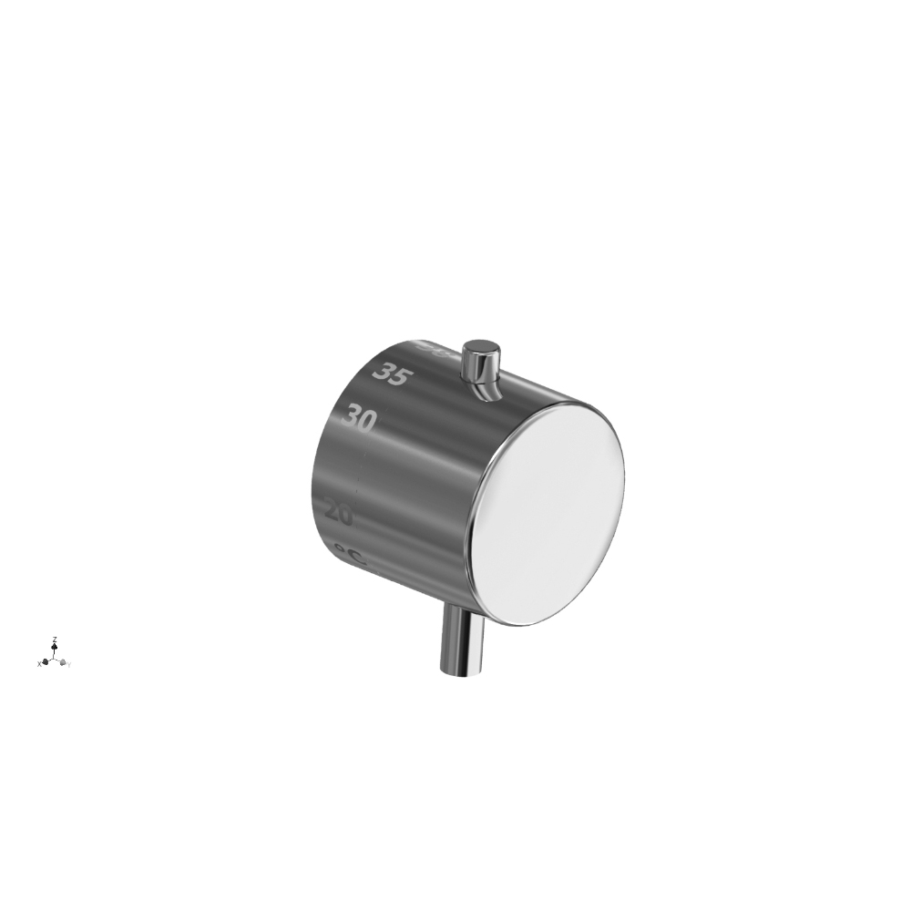 Shower handle cartridge side