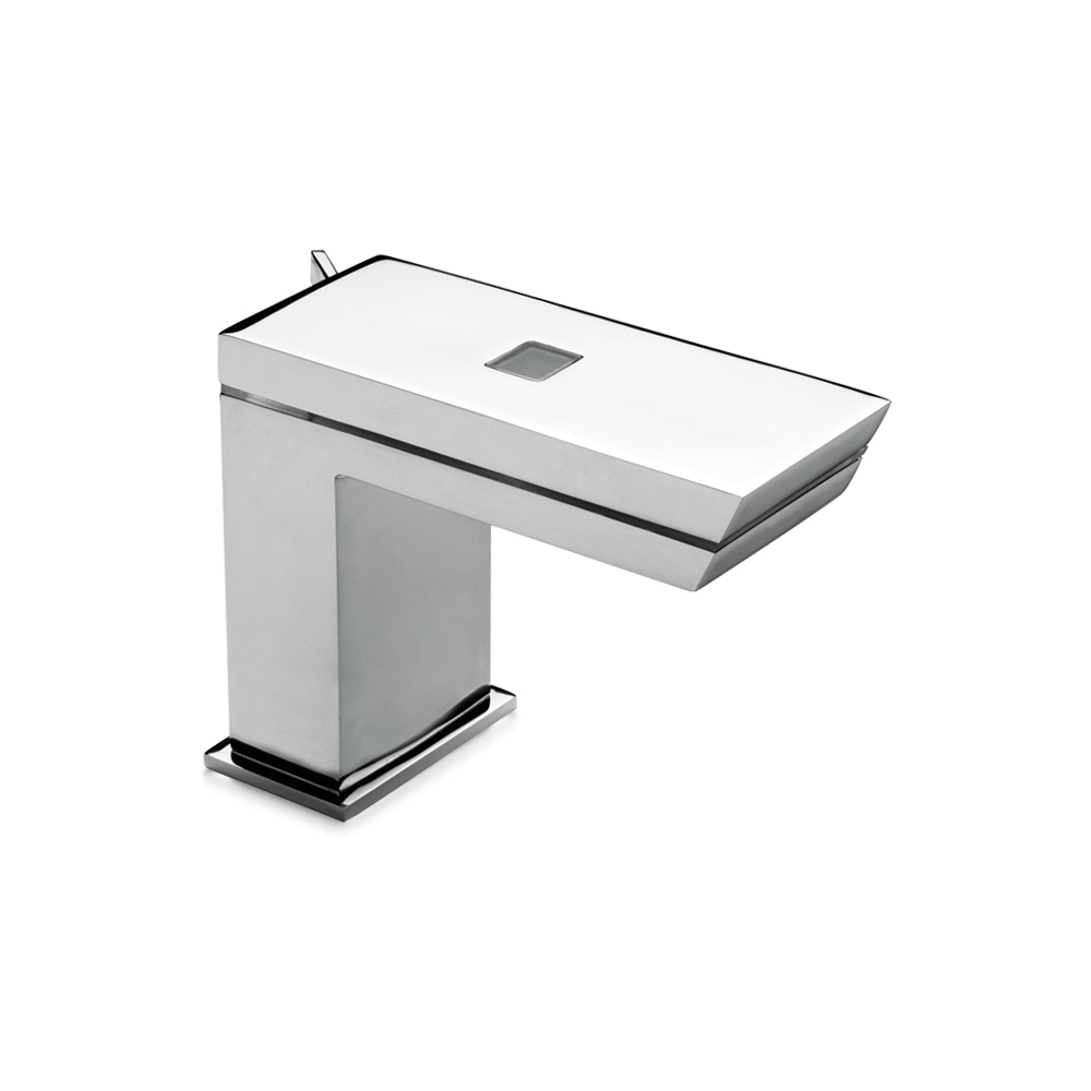 Electronic wash basin mixer with touch with led. Battery version