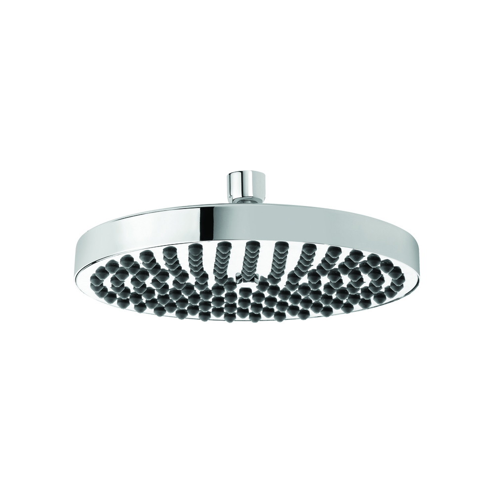 Brass shower head with anti-limescale