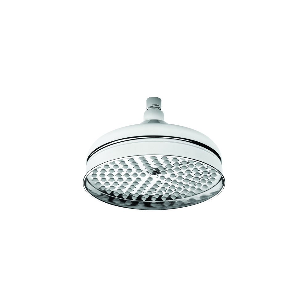 Brass shower head Ø 25 cm with anti-limescale