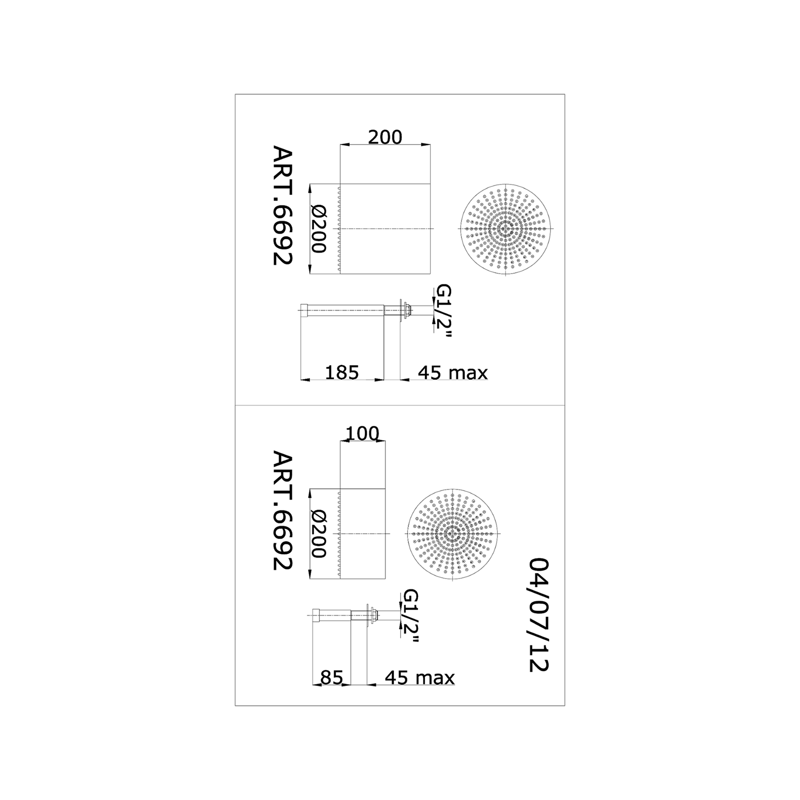 Brausekopf mit Anti-Kalken Düsen