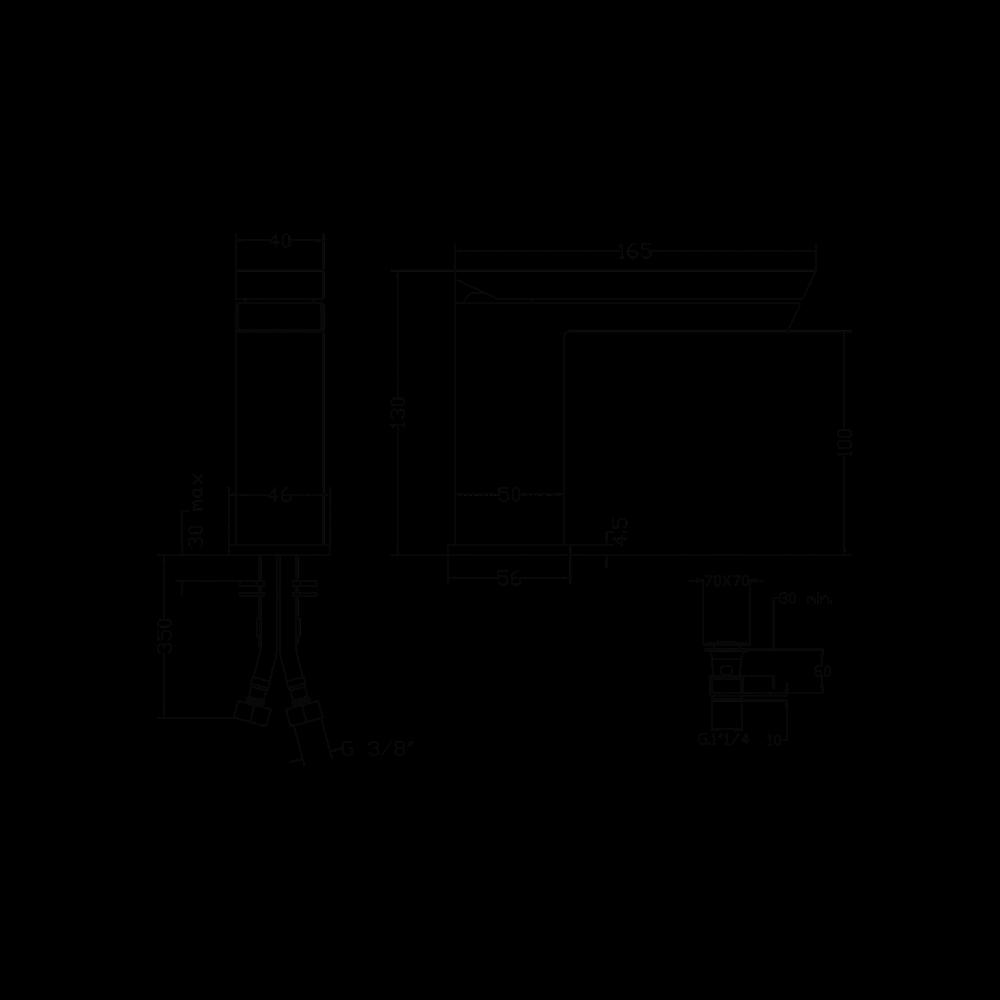 Miscelatore bagno con scarico CLICK-CLACK