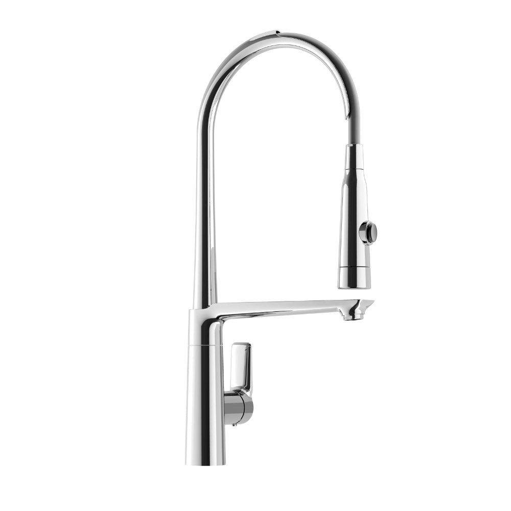 Kitchen faucet with 2 jets pull-out handshower