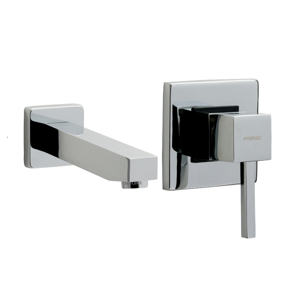 Built-in washbasin mixer with spout