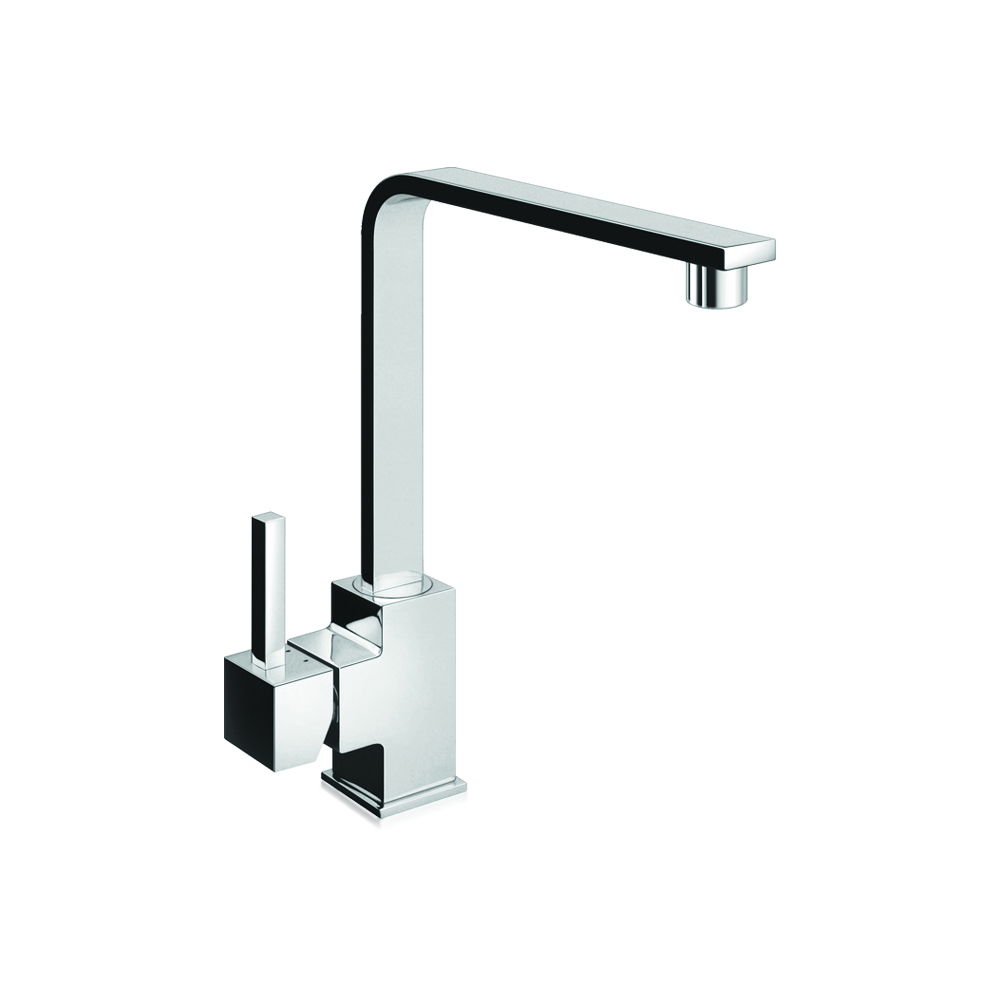 Sink mixer with side lever and swivel spout