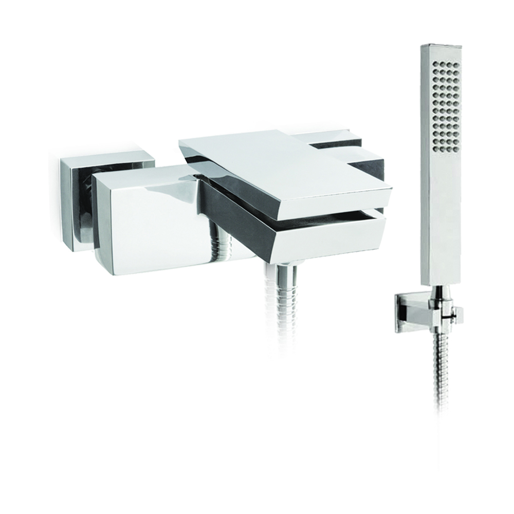 Bathtub mixer with diverter and shower kit