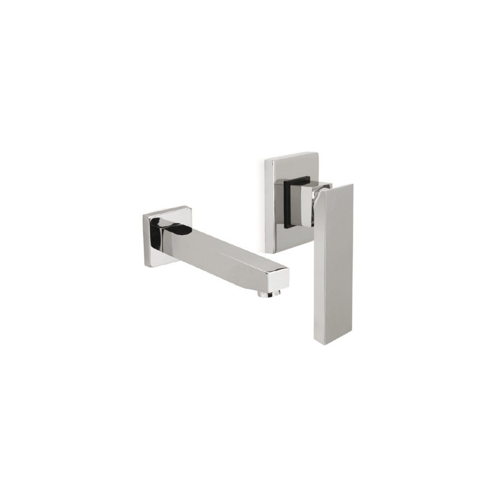Built-in washbasin mixer with spout, without waste