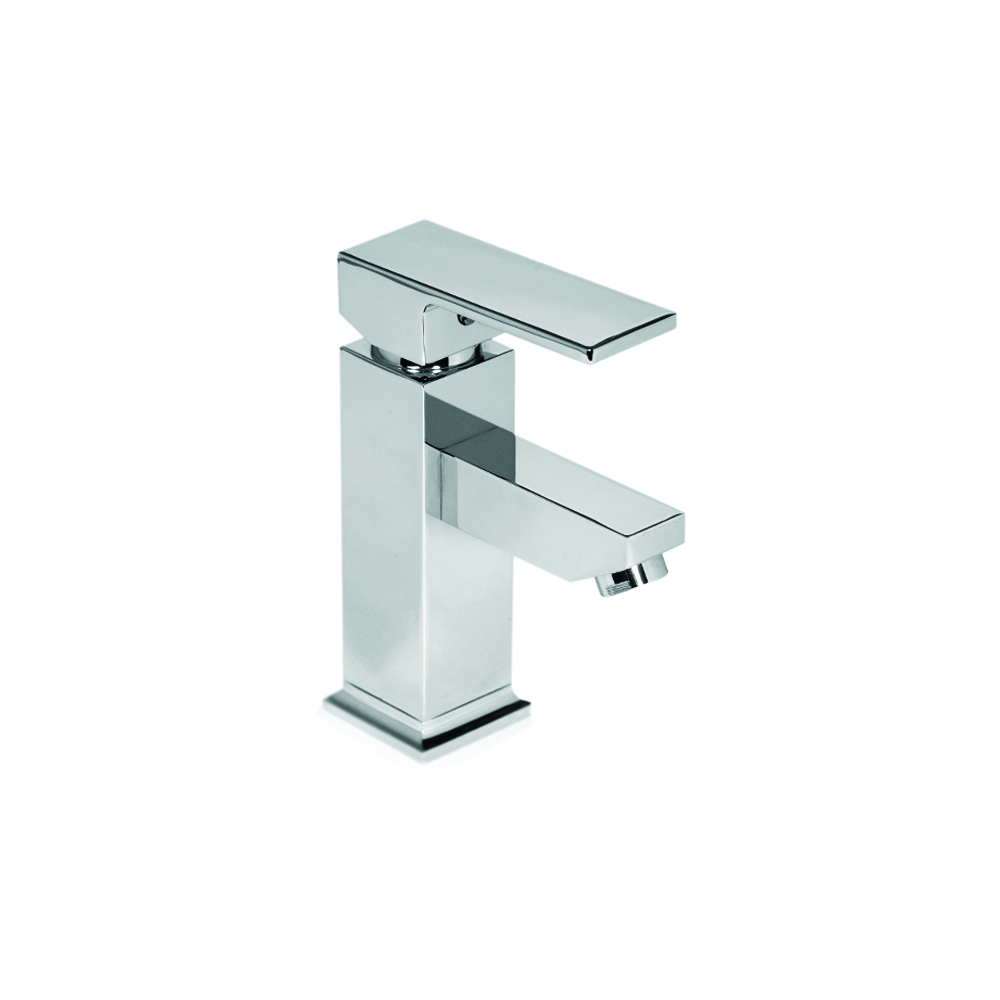 Single-handle bathroom faucet with pop-up waste