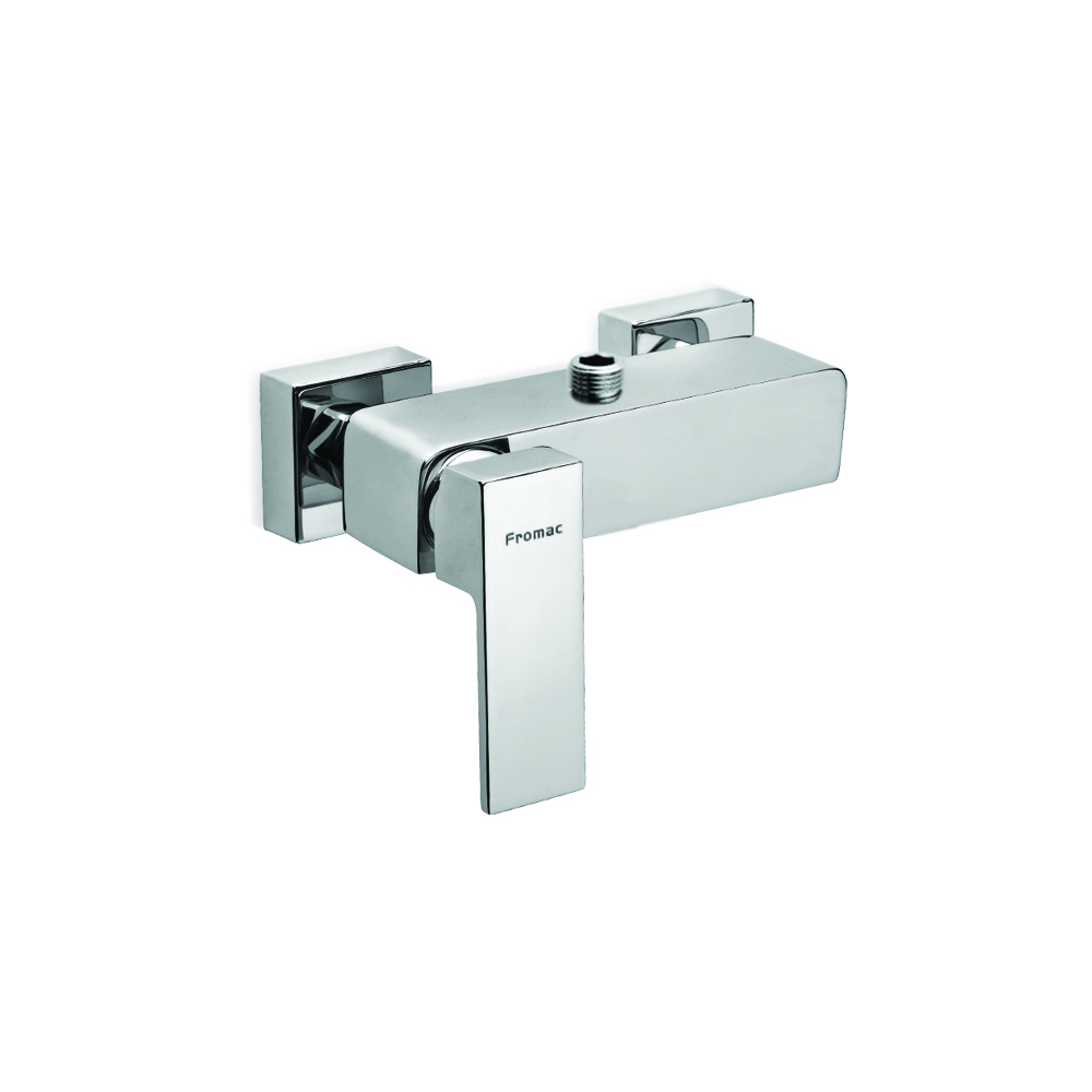 Single handle shower faucet with lower connection