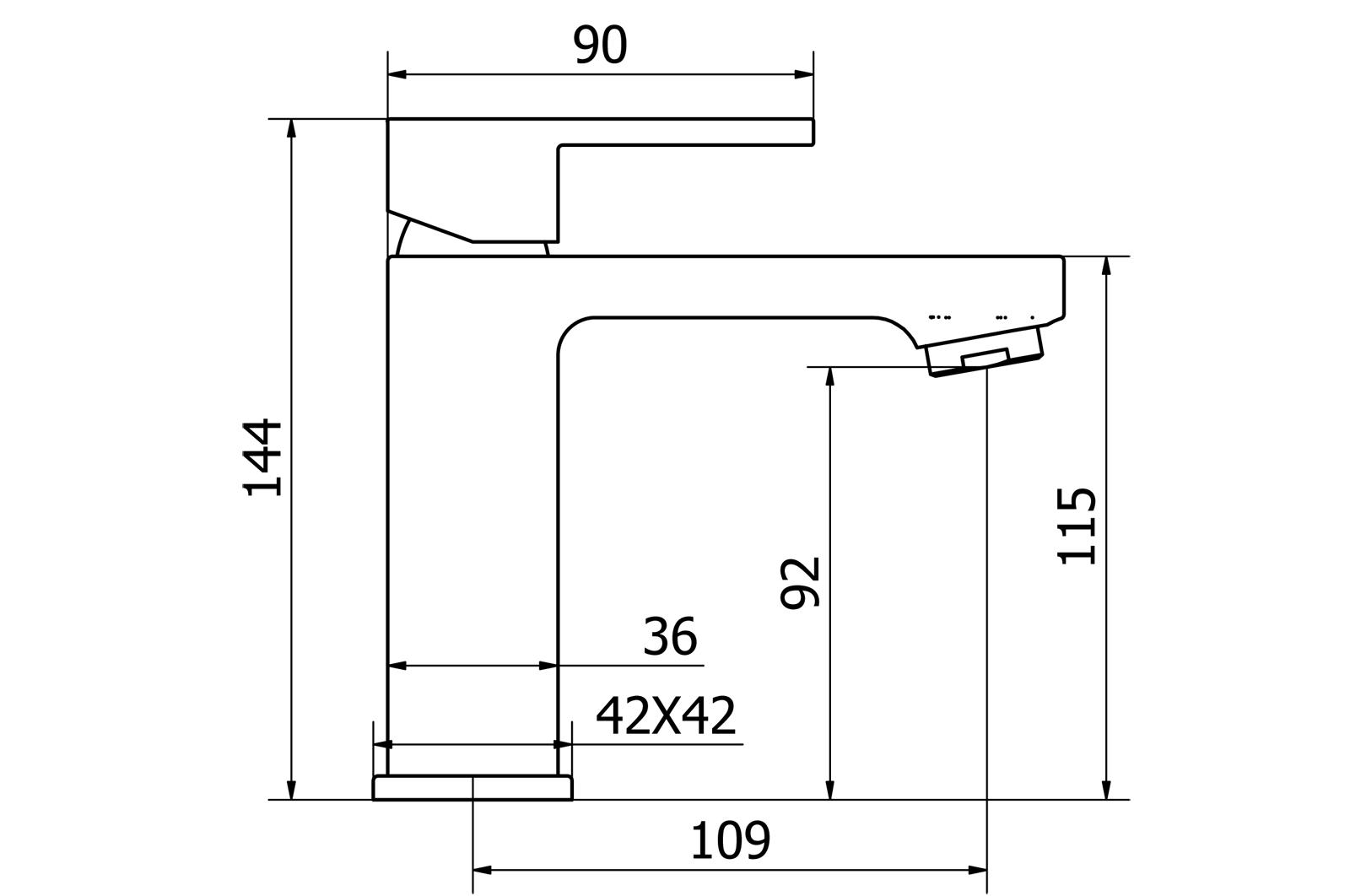 Miscelatore monocomando lavabo con scarico CLICK-CLACK